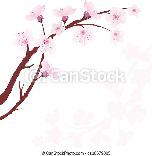 vector cherry branch - csp8679005