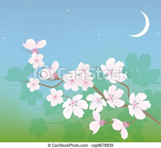 vector cherry branch - csp8678839