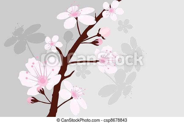 vector cherry branch - csp8678843