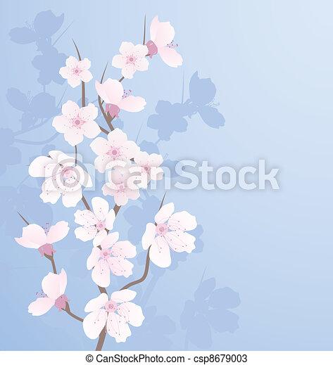 vector cherry branch - csp8679003