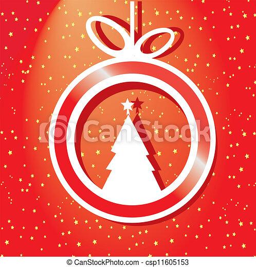 vector christmas background. - csp11605153