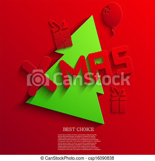 Vector christmas background. Eps 10 - csp16090838