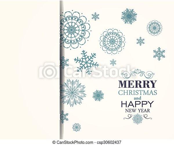 Vector Christmas Background - csp30602437
