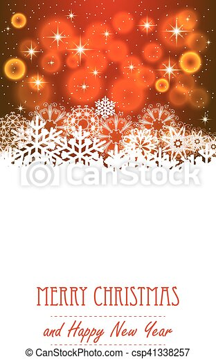Vector christmas background with snowflakes - csp41338257