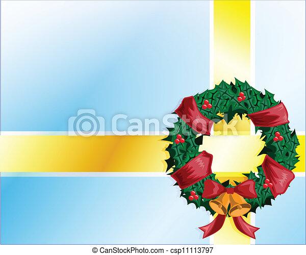 vector christmas bow - csp11113797