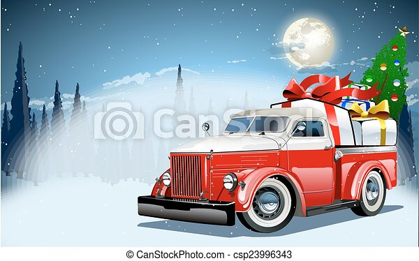 Vector Christmas Card - csp23996343