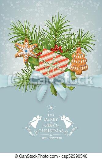 Vector Christmas Card - csp52390540