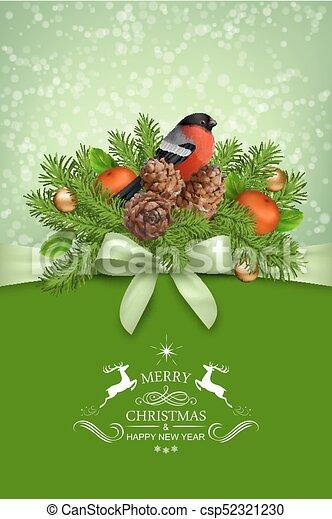 Vector Christmas Card - csp52321230