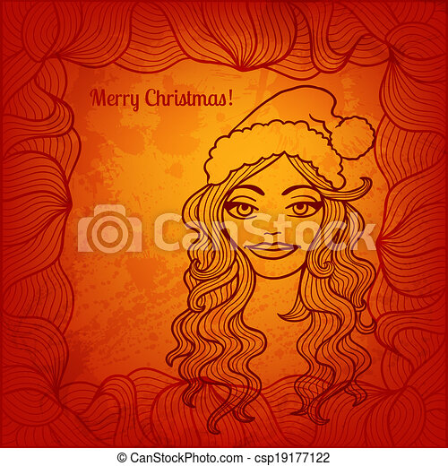 Vector Christmas card for Your design - csp19177122