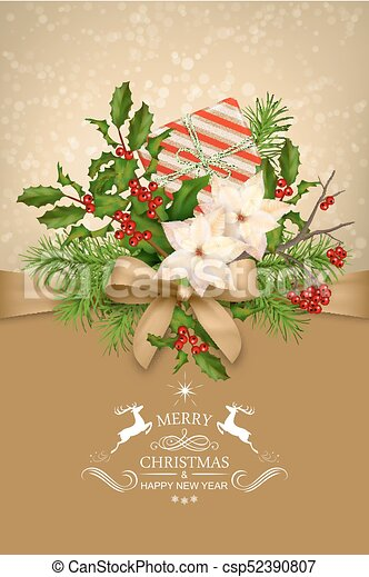 Vector Christmas Card - csp52390807