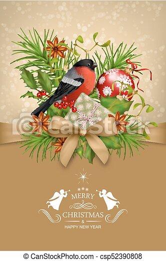 Vector Christmas Card - csp52390808