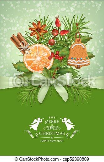 Vector Christmas Card - csp52390809