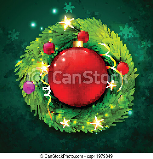 vector christmas design - csp11979849