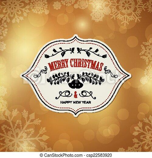 Vector Christmas Design - csp22583920