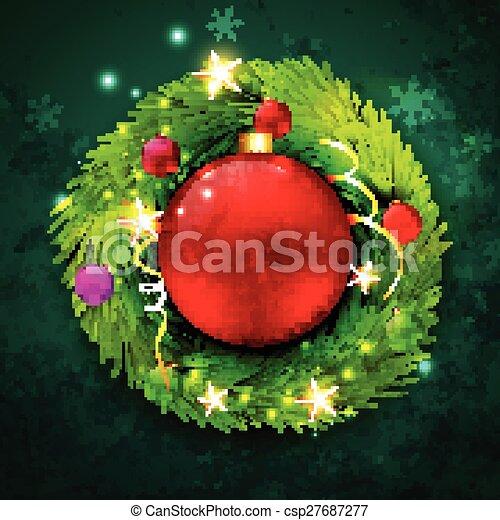 vector christmas design - csp27687277
