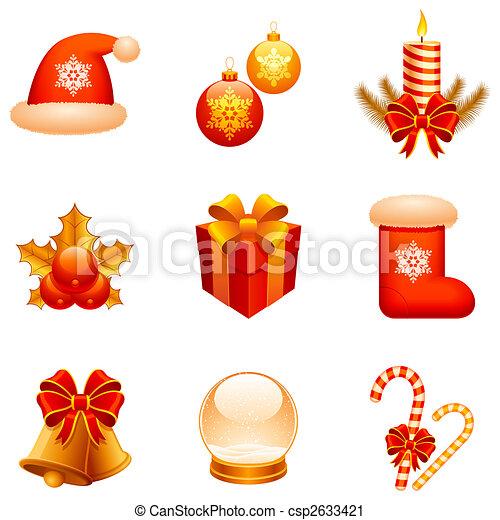Vector Christmas icons. - csp2633421