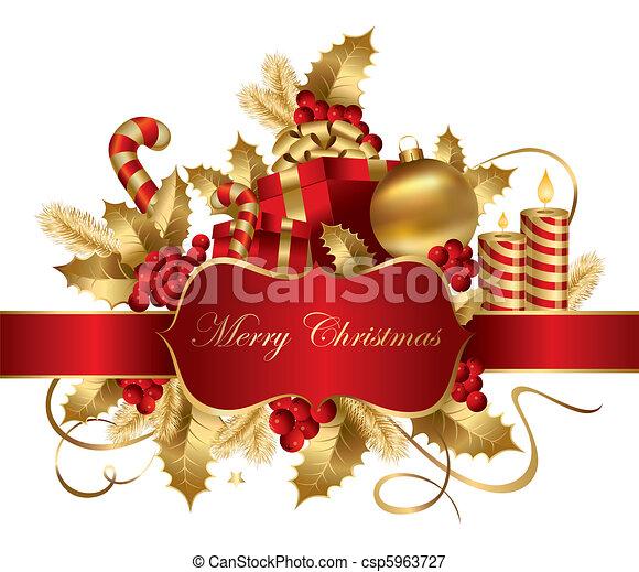 Vector Christmas illustration - csp5963727