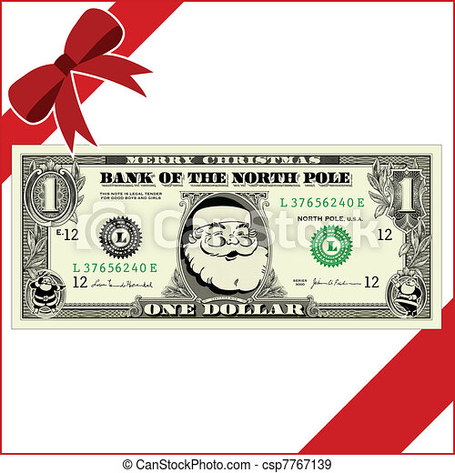 vector christmas money all pieces are separate and easy to edit