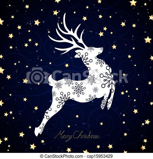 vector christmas reindeer vector illustration of a decorative