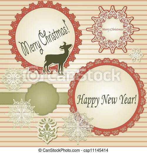 Vector Christmas Scrapbook - csp11145414