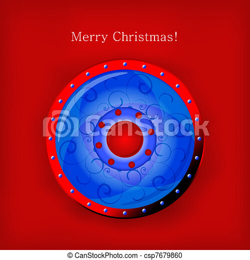 Vector Christmas shield for your design - csp7679860