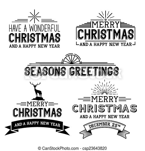 Vector Christmas Signs A Collection Of Festive Xmas Signs And Symbols