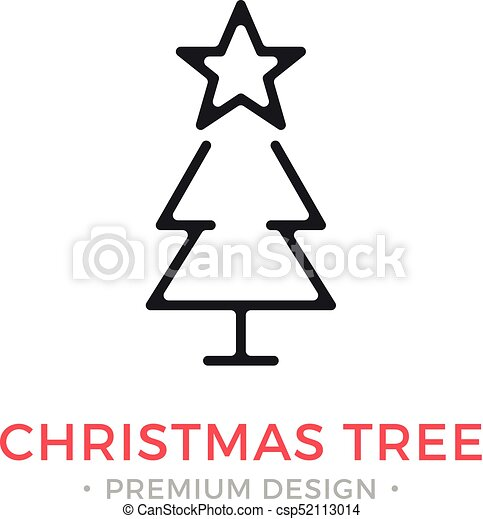 Christmas Holidays Icon.Vector Christmas Tree Icon Holidays Xmas New Year Concepts Modern Graphic Design Outline Symbol Sign Simple Thin Line Icon