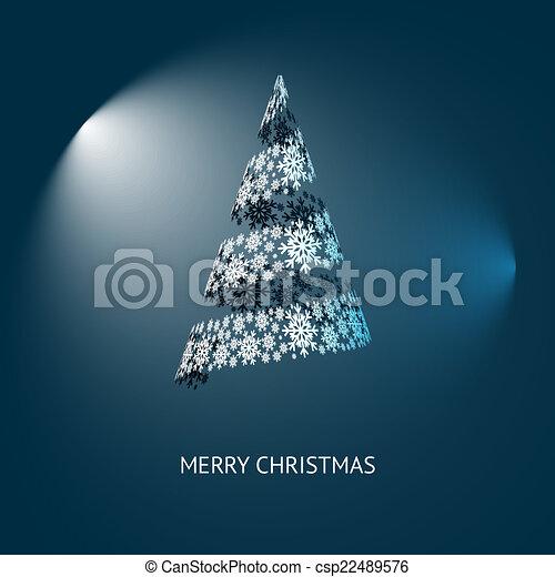 Vector Christmas Tree - csp22489576