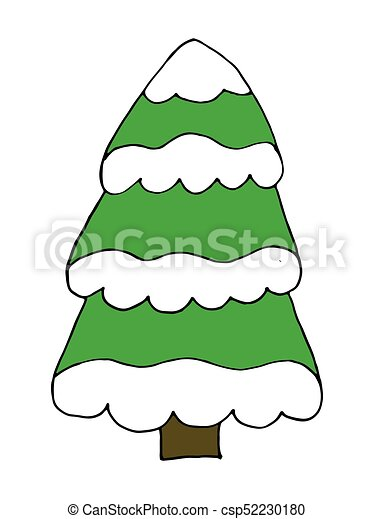 Vector Christmas Tree With Snow Doodle Cartoon Hand Drawing Canstock Christmas tree with presents clipart. https www canstockphoto com vector christmas tree with snow doodle 52230180 html