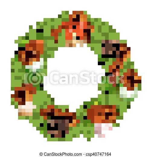 Vector Christmas Wreath - csp40747164