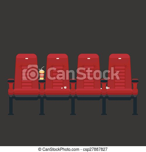 Vector Cinema Chairs In Flat Style   Csp27887827