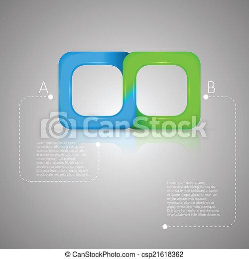 Ilustración de vectores de cinta bicolor Mobius - csp21618362