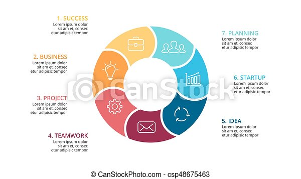 Vector circle arrows infographic cycle diagram graph presentation vector circle arrows infographic cycle diagram graph presentation chart business concept with 7 ccuart Choice Image
