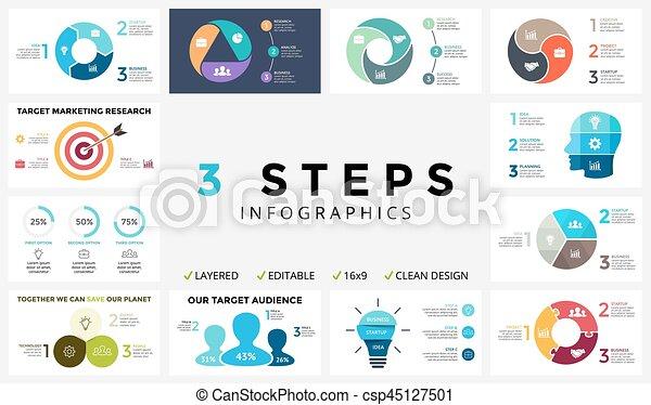 Vector circle arrows infographic, cycle diagram, graph, presentation chart - csp45127501