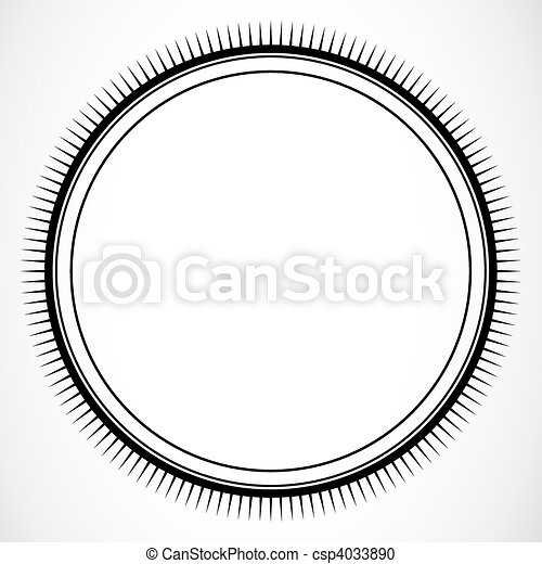 Vector circle burst frame. Detailed circular frame or border. easy ...