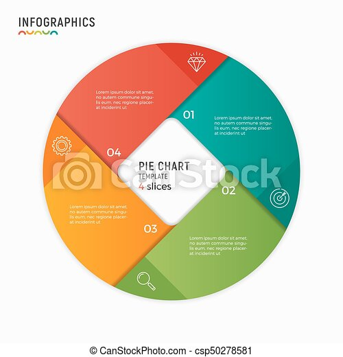 Vector circle chart infographic template 4 options steps parts ccuart Images