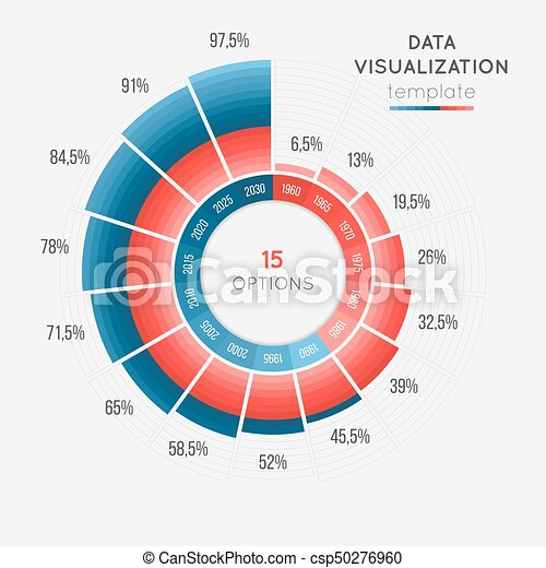 Vector Circle Chart Infographic Template For Data Visualization With