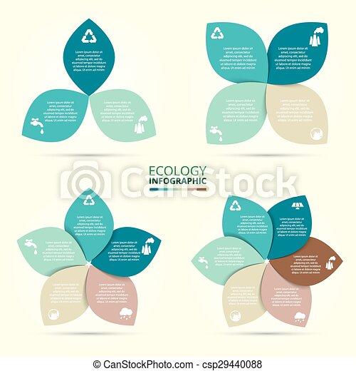 Vector circle eco infographic. - csp29440088