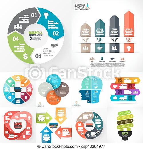 Vector circle infographic set - csp40384977