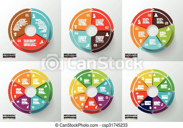 Vector circles with arrows for infographic. - csp31745233