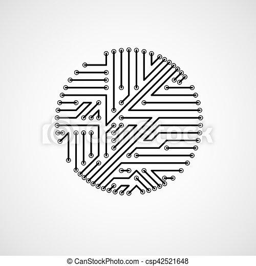 Vector circuit board circle, digital technologies... eps vector ...
