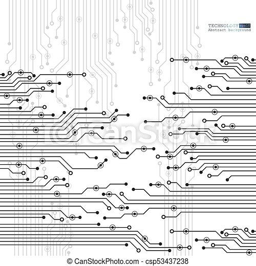 Vector circuit board illustration. abstract technology. eps ...
