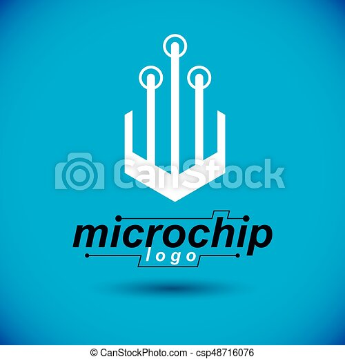 Vector circuit board with electronic components of... vectors ...