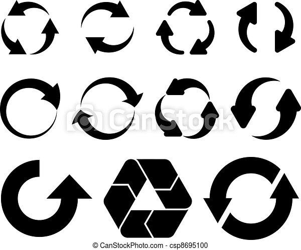 vector circular arrows - csp8695100