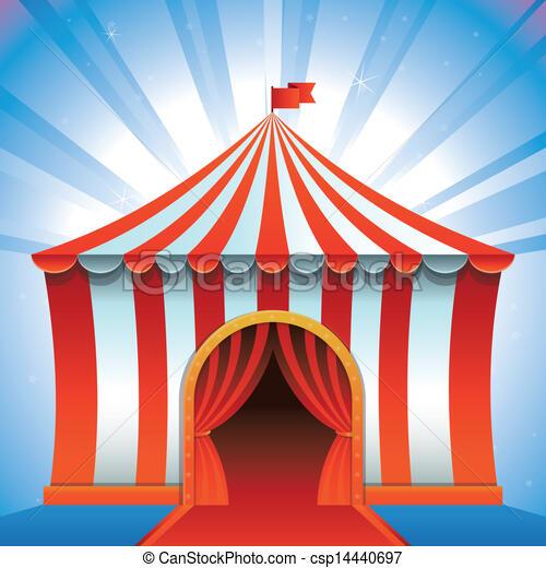 Vector Circus Tent - Bright Icon & Vector circus tent - bright icon - entertainment concept eps ...