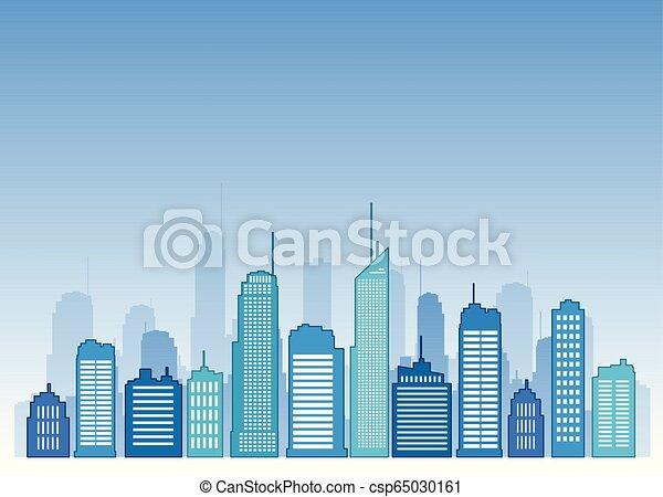Vector cities blue buidling design - csp65030161