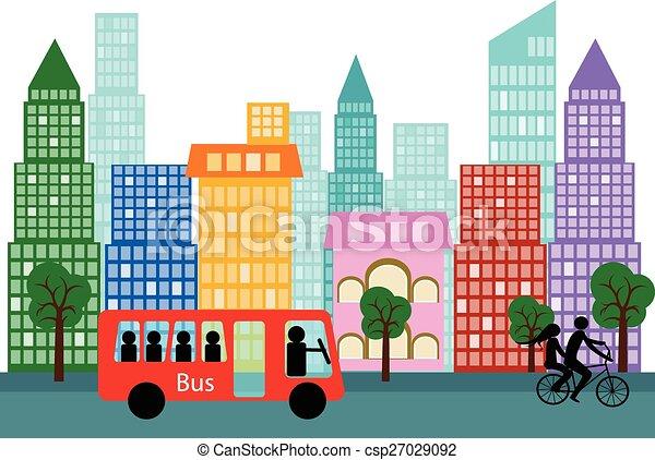vector city - csp27029092