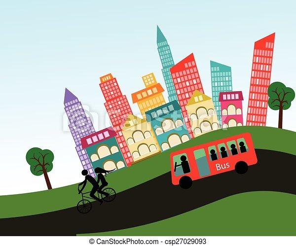 vector city - csp27029093