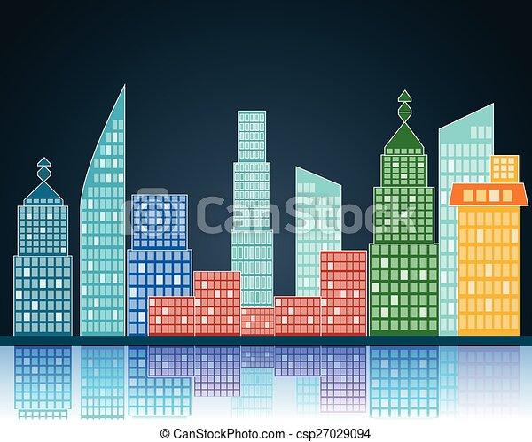 vector city - csp27029094