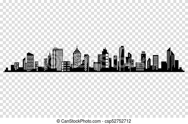vector city silhouette cityscape vector design skyline architecture rh canstockphoto com cityscape vector background free vector cityscape